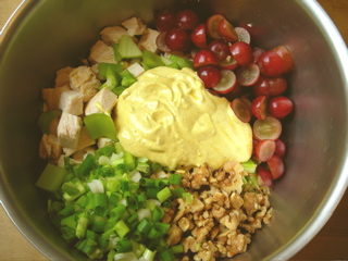 Curried chicken salad on the way