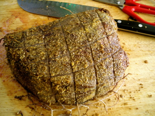Spiced roast whole