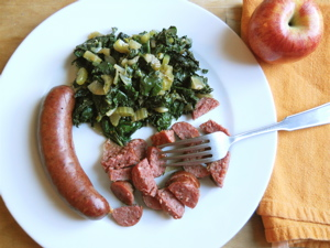 Sausage and greens2