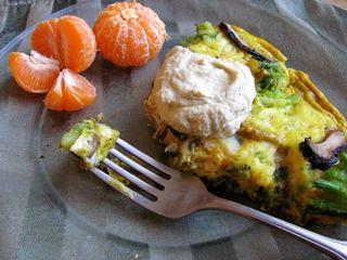 Kale Fritatta with tangerine