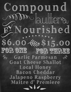 Compound butters chalkboard