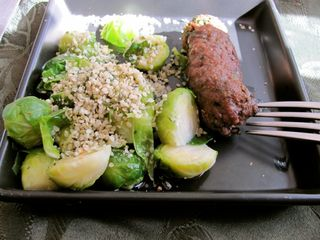 Brussels Sprouts Kafta & Hemp Seeds
