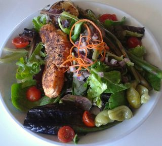 Salmon Salad1 , Blue Lemon
